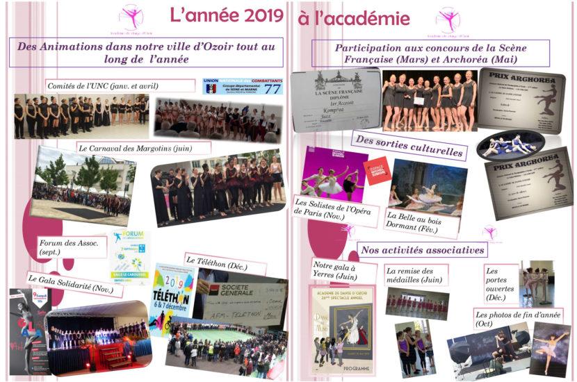 L'année 2019 à l'Académie de danse d'Ozoir